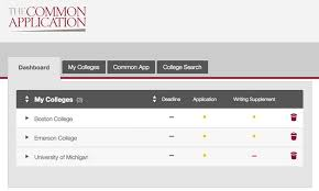 how to apply the common application add schools to your list
