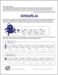 Intervals! | Worksheet Four/5ths | Music | Pinterest
