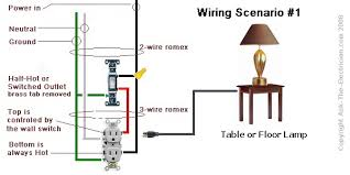 electrical how can i make an outlet switched? home improvement Table Lamp Wiring Diagram wiring with switch on feed side table lamp wiring diagrams push button