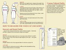 Cap And Gown Measurement Chart How To Measure For Your Academic Gown
