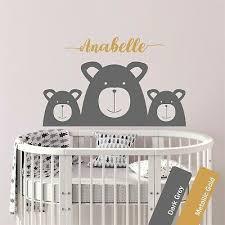 bear personalised wall art sticker baby