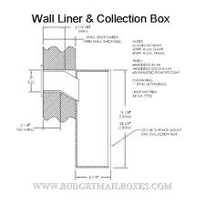 wall mail slot engraved mail slot through wall mail slot sleeve wall mail slot
