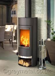 vigo round black 6kw contemporary curved wood burning stove