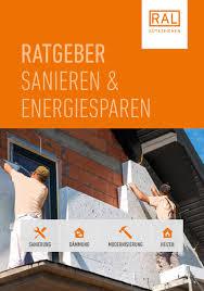 Ratgeber Sanieren Und Energiesparen By Ral Ev Issuu