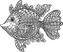 Aquarium Coloring Pages Printable Exotic Fish Coloring Page Mandala
