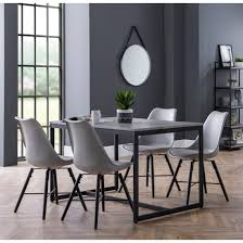 concrete effect with 4 kari grey chairs