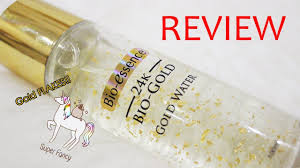 Bioessence 24k Bio Gold Gold Water Review Bahasa Indonesia Youtube