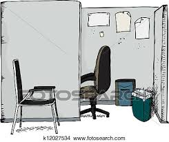 office cubicle clipart. Interesting Clipart Clipart  Office Cubicle With Chairs Fotosearch Search Clip Art  Illustration Murals Intended T