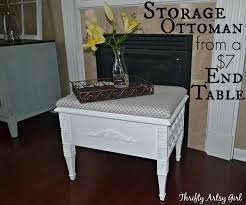 Artsy Coffee Tables How To Make An Elegant Storage Ottoman With A Removable Cushion