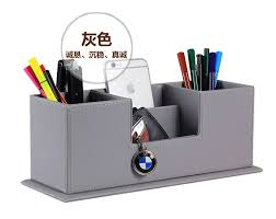 office pen holder. Popular Creative Wooden Leather Office Pen Holder School Pencil Case Desk Stationery Organizer Makeup Remote Controller Design Decoration