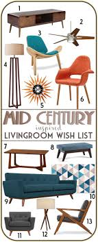 mid century modern inspired furniture. Mid Century Modern Inspired Living Room Furniture Moodboard. More Economical Option To Buying Original Pieces - Good Place Start While I