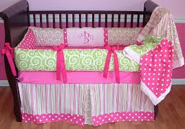 Pink And Green Home Decor Adorable Pink Green Baby Bedding Cute Small Home Decor Inspiration