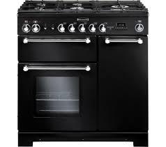 Why Dual Fuel Range Buy Rangemaster Kitchener 90 Dual Fuel Range Cooker Black Free