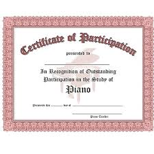 Santorella Publish Certificate Of Participation 10 Pack Red