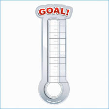 Archaicawful Goal Thermometer Template Excel Ideas Chart