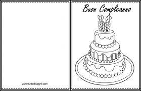 Biglietto Con Torta Di Compleanno Da Stampare E Colorare