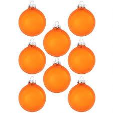 Weihnachtskugeln Orange Glänzend Aus Glas 7cm 8 Stück