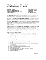 Shipping And Receiving Resume Examples Receiving Clerk Job Description Resume Receiving Clerk Resume Sample 2