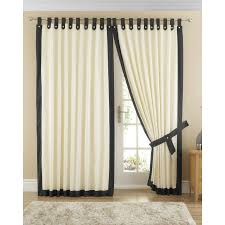 image of tab top curtains double