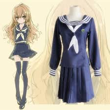 the dragon and tiger every ban river cos costume japanese style school uniform blue cosplay clothing