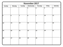 printable calendar november 2017 free pdf free design and templates