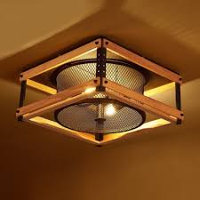 industrial flush mount. Exellent Mount 15 Inches Wide Industrial LED Flush Mount Ceiling Light With Wood Accents   With R