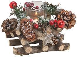 Gesteck Advent Weihnachten Dekoriert Mit Zapfen Grün Rot 1 Teelichtglas 16 Cm Matches21