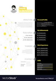 Creative Simple Cv Template With Yellow And Grey