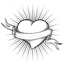 Tetování Srdce Stock Vektory Royalty Free Tetování Srdce Ilustrace