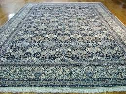 11x17 rug blue oriental rugs navy hand knotted wool silk traditional pad