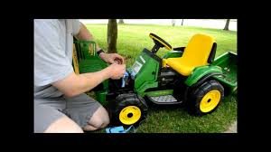 john deere peg perego turf tractor how to change charge the battery