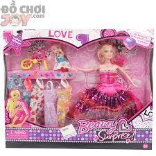 Búp bê Barbie mặc váy thời trang - Hộp gồm 1 baby lớn, 1 baby nhỏ Đồ Chơi  Joy