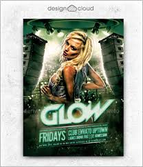 glow flyer 37 club flyer templates free psd rtf pdf format download