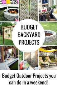diy outdoor projects. Delighful Projects Budget Backyard Ideas That You Can Do In A Weekend Inside Diy Outdoor Projects