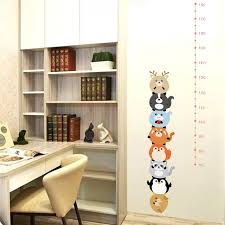 Us 2 75 40 Off Forest Animals Height Measure Wall Stickers For Kids Bedroom Nursery Height Ruler Growth Chart Room Decoration Poster Mural In Wall