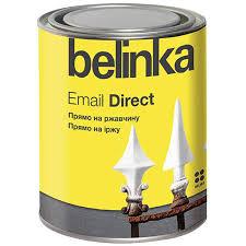 <b>Эмаль</b> по ржавчине <b>Belinka Email</b> Direct глянцевая белая 0,75 л ...