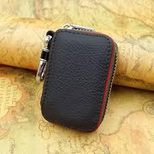 key holder for car keys wallet pouch bag genuine leather keychain housekeeper car key case organizer logos for free
