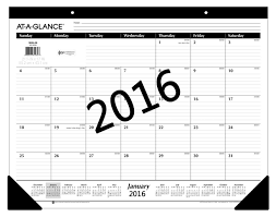 com at a glance monthly desk pad calendar 2016 ruled 21 3 4 x 17 sk2400 office s