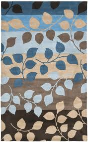 blue brown area rug blue brown rug amazing new modern gray 8 area casual intended for