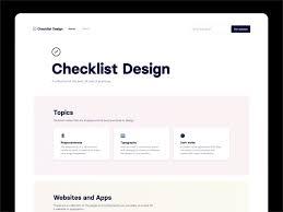 Design System Checklist Checklist Design 2 0 Homepage By George Hatzis On Dribbble