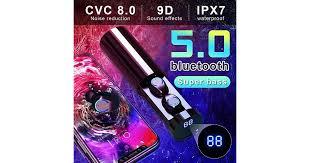 <b>F9</b>-<b>6 TWS Wireless</b> Earbuds bluetooth 5.0 Headphone Waterproof ...
