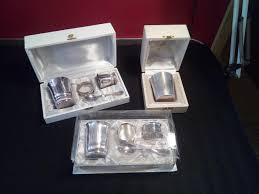 silversmith daniel crégut christofle 3 boxed baby gift sets for birth or baptism