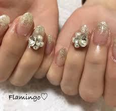 Flamingoさんのネイルデザイン Glitter3d Tredina