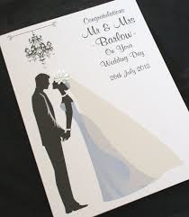 large handmade personalise bride & groom congratulations wedding Personalised Handmade Wedding Cards large handmade personalise bride & groom congratulations wedding card personalised handmade wedding cards