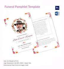 Obituary Funeral Pamphlet Template Basic Brochure Word Nyani Co