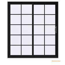 v 4500 contemporary black finishield vinyl right hand 10 lite sliding patio door w white interior