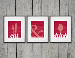 zoom on food and drink wall art with dining room prints wall art eat drink fork knife spoon
