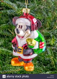 Christmas bauble hanging from a tree in the shape of Mickey Mouse Stock  Photo - Alamy