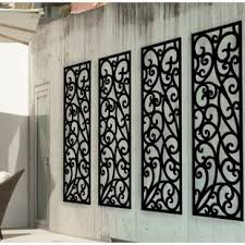 panel wrought iron wall d cor on ornamental iron wall art with large wrought iron wall decor wayfair