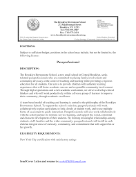 Paraprofessional Cover Letter Cover Letter Design top Paraprofessional Cover Letter Sample 1